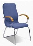Нова CFA LB хром - конференц кресло  кожаное