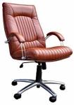 Фаворит  хром - кресло(кожа) Фаворит